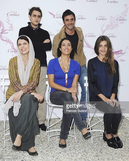 Deauville revelation jury Iranian actress Leila Hatami French actress Sabrina Ouazani and French actress Elisa Sednaoui French actor Benjamin Siksou...