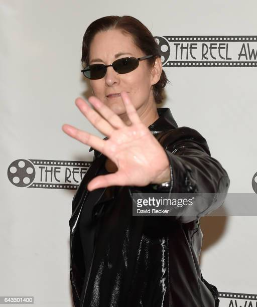 Deb Ford of Florida dressed as the character Trinity from 'The Matrix' movie franchise attends The Reel Awards 2017 at the Golden Nugget Hotel Casino...