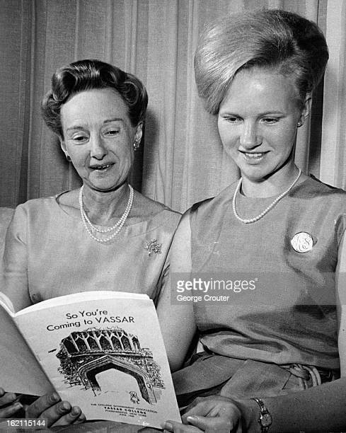 AUG 24 1965 AUG 25 1965 AUG 29 1965 Deb Kibrough Street is following in footsteps of her mother Mrs John Street by matriculating at Vassar College...