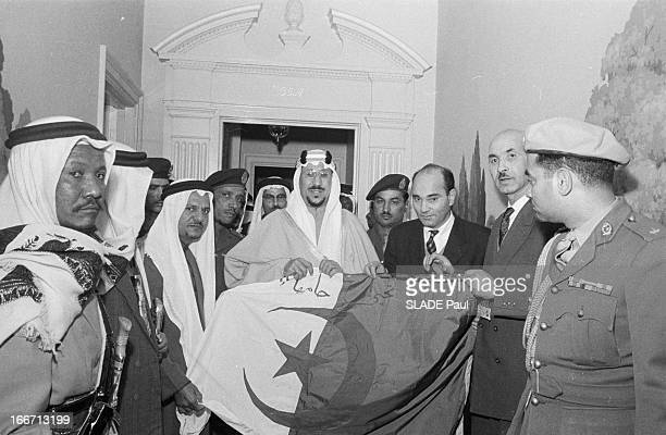 Debate On Algeria At The Un A New York en février 1957 la France est mise en accusation à l'ONU à propos de l'AlgerieLe roi IBN SEOUD d'Arabie...
