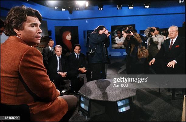 Debate Tv B Tapie / Jm Le Pen On Immigration Tf1 On Decembre 8th 1989 In Paris France