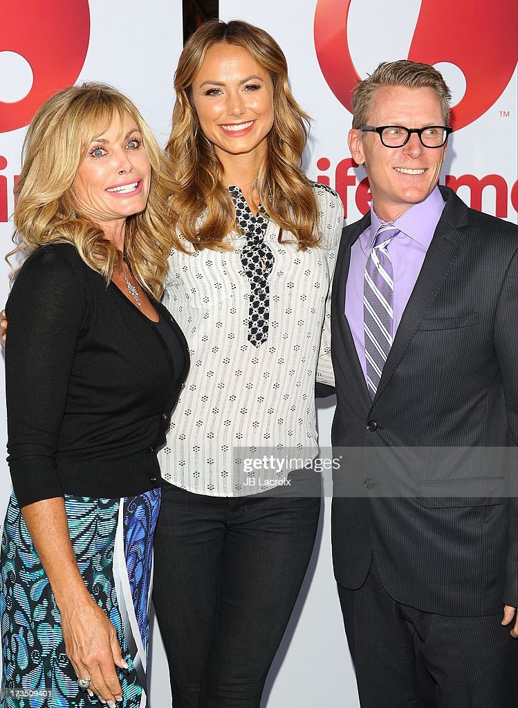 Debbi Fields, Stacy Keibler and Chris Cornyn attend the Lifetime Original Series 'Supermarket Superstar' food tasting event at The Smog Shoppe on July 15, 2013 in Los Angeles, California.