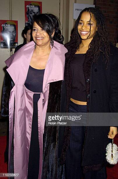 Debbie Allen and daughter Vivian Nixon during The Broadway Opening of 'Julius Caesar' starring Denzel Washington April 3 2005 at The Belasco Theatre...