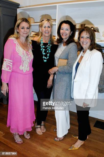 Debbie Bancroft Jill Fairchild Lisa Mccarthy and Deni Wendt attend What2WearWherecom Plus Calypso ST Barth Summer shopping soiree at Calypso St Barth...