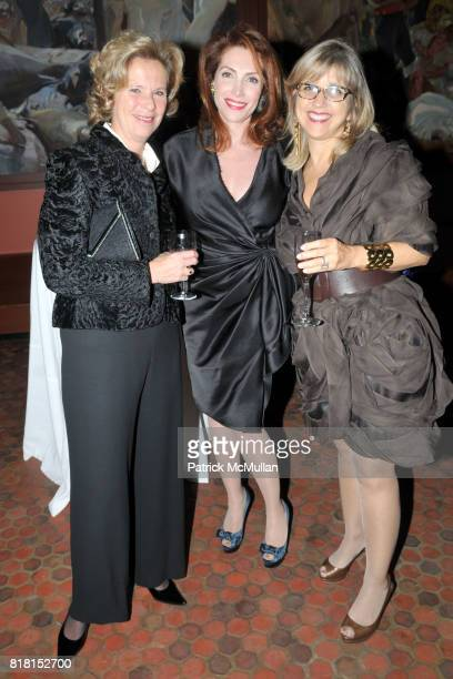 Debbie Born Nathalie de Gunzburg and Louise Banon attend DIA ART FOUNDATION Fall Gala 2010 at Hispanic Society of America and Church of the...