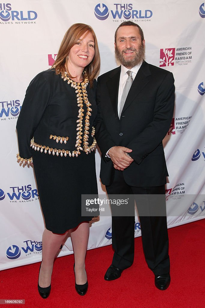 Debbie Boteach and Rabbi Shmuley Boteach attend the Champion Of Jewish Values International Awards Gala at The New York Marriott Marquis on June 4, 2013 in New York City.