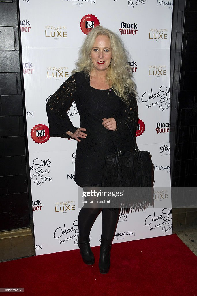 Debbie Bright attends the launch of Chloe Sims book 'Chloe Sims: The Only Way Is Up' at Luxe Nightclub on November 13, 2012 in Loughton, Essex.