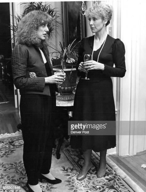 Debbie Brooks in appliqued jacket black matte jumpsuit Jane Box in 19S1 version of Brooks classic dress Credit Denver Post