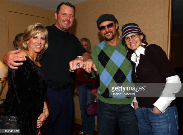 Debbie Clemens Roger Clemens Tim McGraw and Faith Hill Roger Clemens is wearing his World Series Ring and Tim McGraw is wearing his Father's Tug...