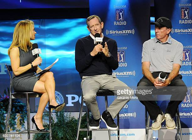 Debbie Doniger Hank Haney and David Leadbetter on SiriusXM PGA TOUR Radio's Teacher's Town Hall at The PGA Merchandise Show In Orlando Florida on...