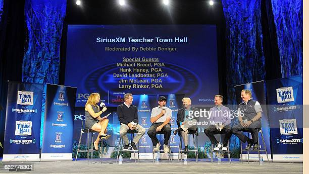 Debbie Doniger Hank Haney David Leadbetter Jim McLean Michael Breed and Larry Rinker on SiriusXM PGA TOUR Radio's Teacher's Town Hall at The PGA...