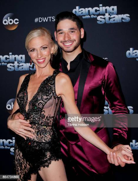Debbie Gibson and Alan Bersten attend 'Dancing With The Stars' season 25 taping at CBS Televison City on September 26 2017 in Los Angeles California
