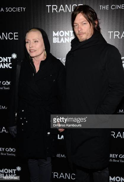 Debbie Harry and actor Norman Reedus attend Fox Searchlight Pictures' premiere of 'Trance' hosted by the Cinema Society Montblanc at SVA Theater on...