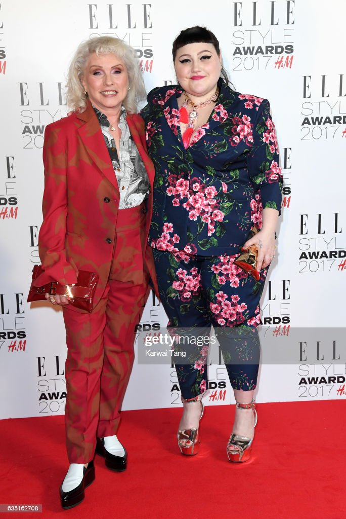 Debbie Harry and Beth Ditto attend the Elle Style Awards 2017 on February 13, 2017 in London, England.