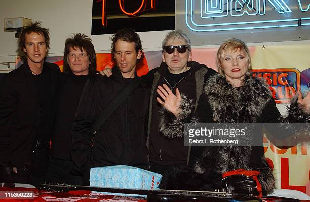 Debbie Harry and Blondie during Blondie Performs and Signs their New Album 'The Curse of Blondie' at City Hall Park and JR Music World in New York...