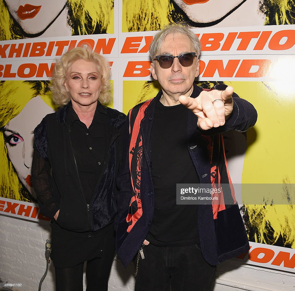 <a gi-track='captionPersonalityLinkClicked' href=/galleries/search?phrase=Debbie+Harry&family=editorial&specificpeople=209145 ng-click='$event.stopPropagation()'>Debbie Harry</a> and <a gi-track='captionPersonalityLinkClicked' href=/galleries/search?phrase=Chris+Stein&family=editorial&specificpeople=239488 ng-click='$event.stopPropagation()'>Chris Stein</a> attend The 40th Anniversary Of Blondie exhibition at Chelsea Hotel Storefront Gallery on September 22, 2014 in New York City.