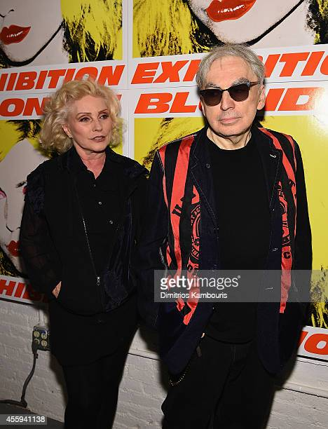 Debbie Harry and Chris Stein attend The 40th Anniversary Of Blondie exhibition at Chelsea Hotel Storefront Gallery on September 22 2014 in New York...