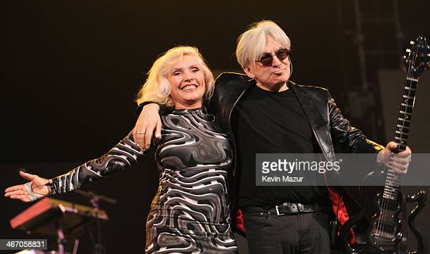 Debbie Harry and Chris Stein of Blondie perform onstage during the Amnesty International Concert presented by the CBGB Festival at Barclays Center on...