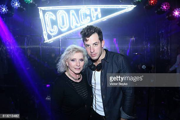 Debbie Harry and Mark Ronson attend Prom 2016 Party hosted by Coach for the Paris Flagship opening as part of the Paris Fashion Week Womenswear...