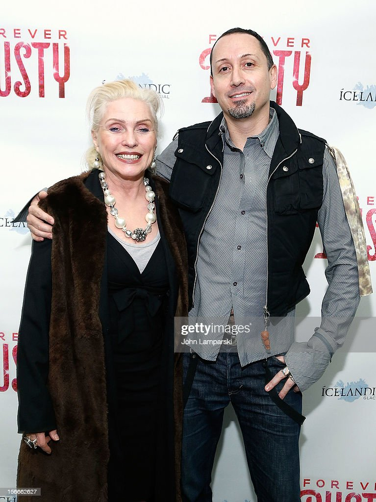 <a gi-track='captionPersonalityLinkClicked' href=/galleries/search?phrase=Debbie+Harry&family=editorial&specificpeople=209145 ng-click='$event.stopPropagation()'>Debbie Harry</a> and Michael Formika attend the 'Forever Dusty' Opening Night at New World Stages on November 18, 2012 in New York City.