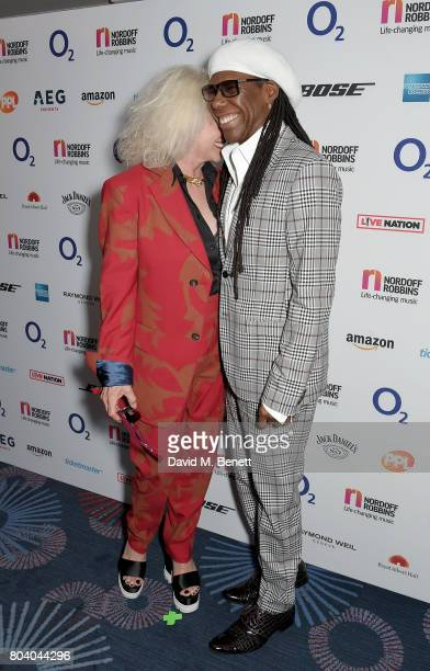 Debbie Harry and Nile Rodgers at the Nordoff Robbins O2 Silver Clef Awards at The Grosvenor House Hotel on June 30 2017 in London England