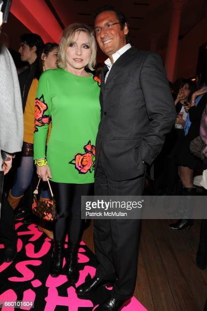 Debbie Harry and Pietro Beccari attend LOUIS VUITTON Tribute to STEPHEN SPROUSE VIP Cocktail Party at Louis Vuitton on January 8 2009 in New York City