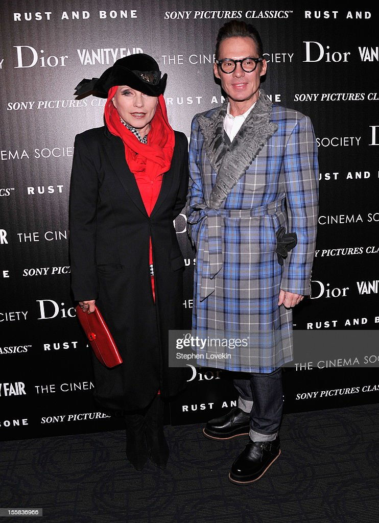 Debbie Harry and Todd Thomas attend The Cinema Society with Dior & Vanity Fair screening of 'Rust And Bone' at Landmark Sunshine Cinema on November 8, 2012 in New York City.