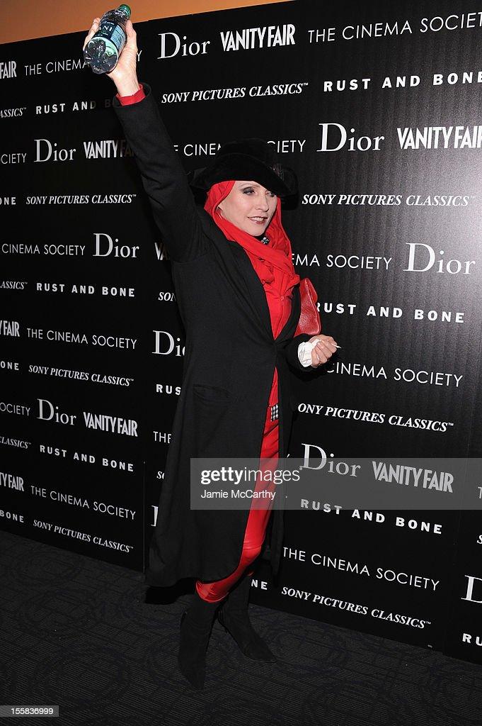Debbie Harry attends The Cinema Society with Dior & Vanity Fair screening of 'Rust And Bone' at Landmark Sunshine Cinema on November 8, 2012 in New York City.