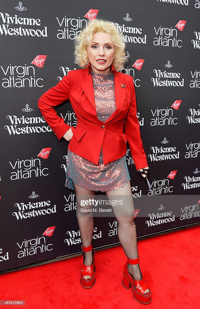 Debbie Harry attends the launch party to celebrate Virgin Atlantic's new Vivienne Westwood uniform collection at Village Underground on July 1, 2014 in London, England.