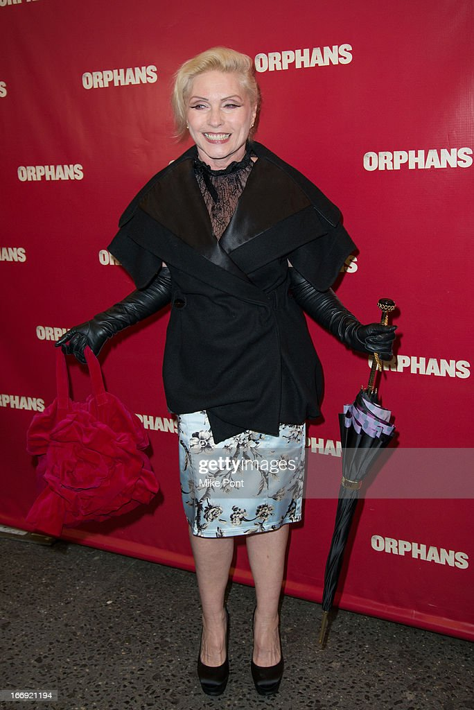 Debbie Harry attends the 'Orphans' Broadway opening night at the Gerald Schoenfeld Theatre on April 18, 2013 in New York City.