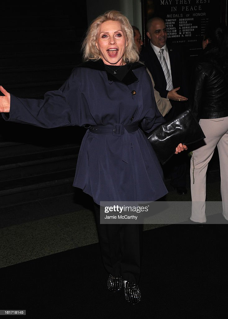 <a gi-track='captionPersonalityLinkClicked' href=/galleries/search?phrase=Debbie+Harry&family=editorial&specificpeople=209145 ng-click='$event.stopPropagation()'>Debbie Harry</a> backstage at the Marc Jacobs Collection Fall 2013 fashion show during Mercedes-Benz Fashion Week at New York Armory on February 14, 2013 in New York City.