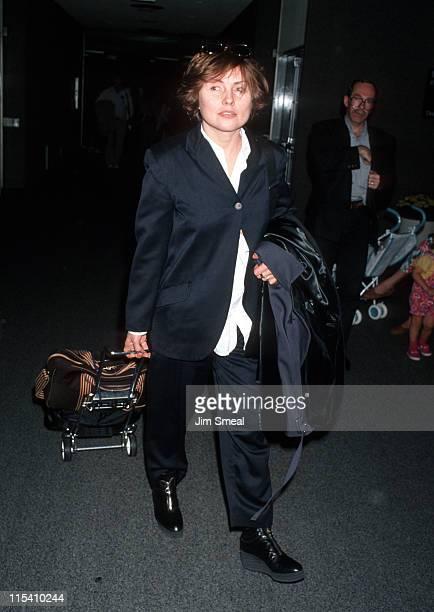Debbie Harry during Debbie Harry Arrives in Los Angeles from New York City at Los Angeles International Airport in Los Angeles California United...
