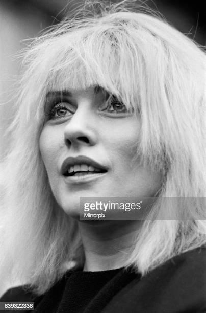 Debbie Harry in London to promote her new film 'Videodrome' 20th November 1983