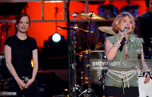 Debbie Harry of Blondie and Shirley Manson perform 'Bounce Along'