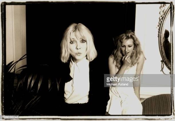 Debbie Harry of Blondie and Viv Albertine of The Slits in London 1980