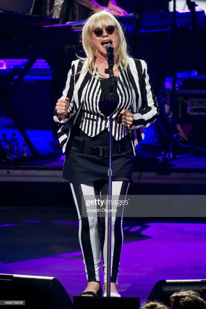 Debbie Harry of Blondie performs as part of the iTunes Festival at The Roundhouse on September 16 2014 in London England