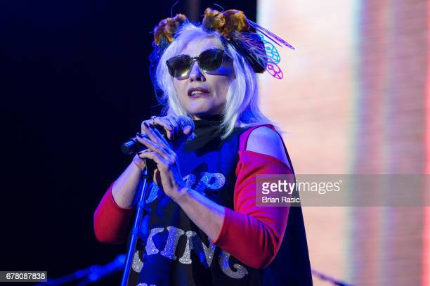 Debbie Harry of Blondie performs at The Roundhouse on May 3 2017 in London England