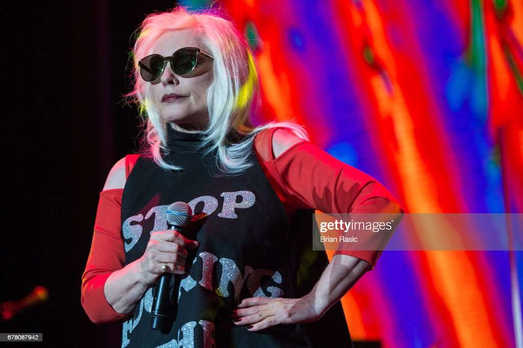 Debbie Harry of Blondie performs at The Roundhouse on May 3, 2017 in London, England.
