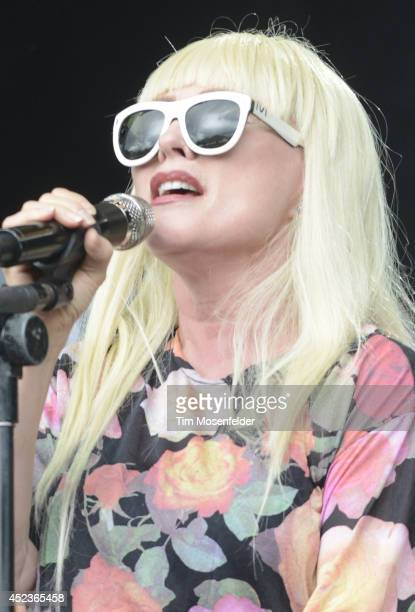 Debbie Harry of Blondie performs during the Pemberton Music and Arts Festival on July 18 2014 in Pemberton British Columbia