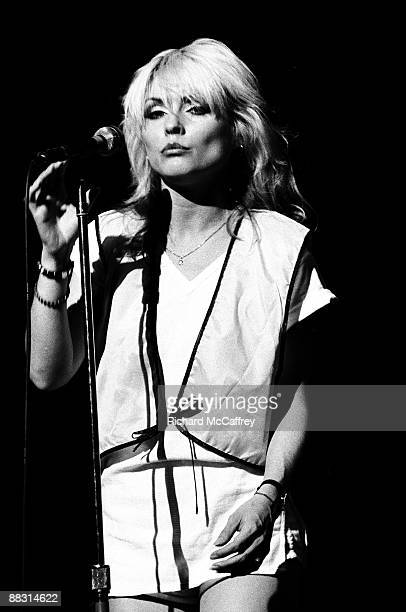 Debbie Harry of Blondie performs live at The Winterland Ballroom in 1978 in San Francisco California