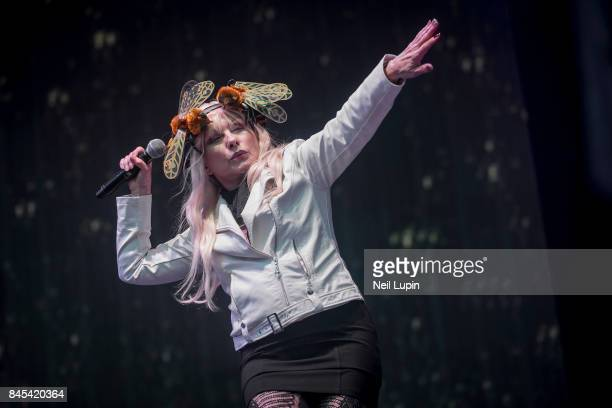 Debbie Harry of Blondie performs live on stage during BBC Radio 2 Live at Hyde Park on September 10 in London ENGLAND