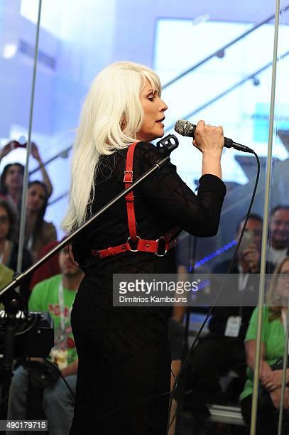 Debbie Harry of Blondie performs on SiriusXM's 'Artist Confidential' at SiriusXM Studio on May 13 2014 in New York City