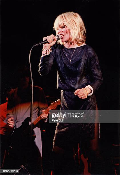 Debbie Harry of Blondie performs on stage at Hammersmith Odeon on January 11th 1980 in London England