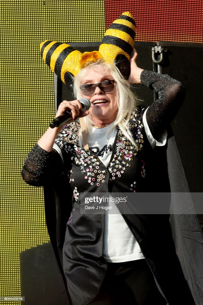 Debbie Harry of Blondie performs on stage at the Barclaycard Presents British Summer Time Festival in Hyde Park on June 30, 2017 in London, England.