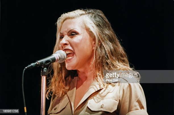Debbie Harry of Blondie performs on stage at The Civic Hall on November 9th 1998 in Wolverhampton England