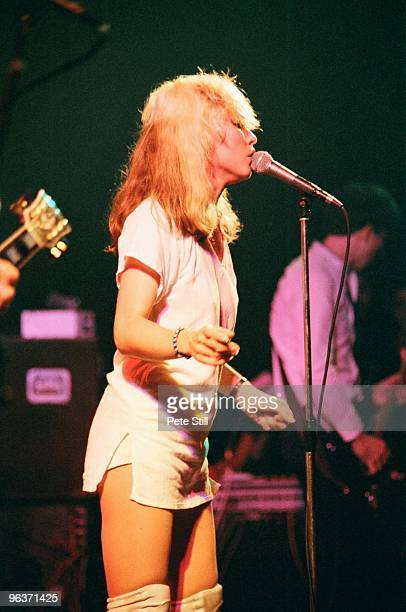 Debbie Harry of Blondie performs on stage at The Roundhouse on March 5th 1978 in London United Kingdom