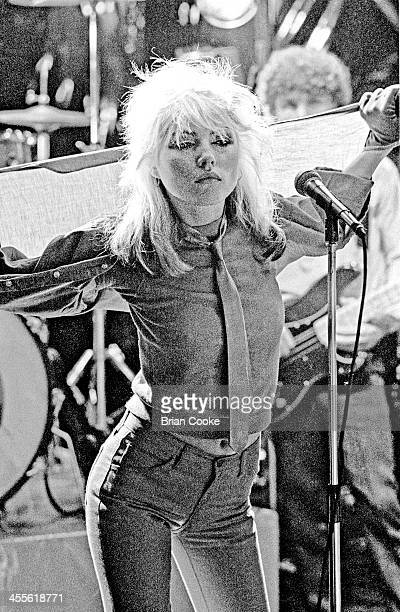 Debbie Harry of Blondie photographed at Blanford Studios in Marylebone London on 8th March 1978 during the makingof a pop promo for their single 'I'm...