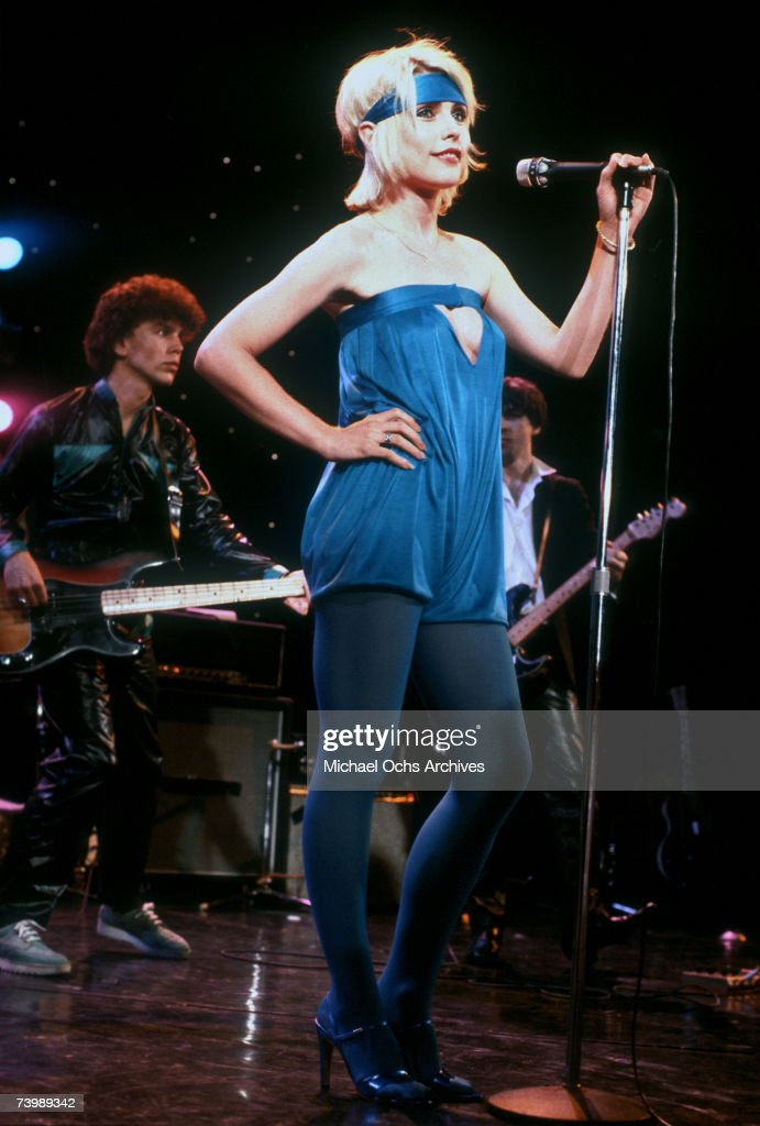 Debbie Harry (with <a gi-track='captionPersonalityLinkClicked' href=/galleries/search?phrase=Nigel+Harrison&family=editorial&specificpeople=810467 ng-click='$event.stopPropagation()'>Nigel Harrison</a> and <a gi-track='captionPersonalityLinkClicked' href=/galleries/search?phrase=Chris+Stein&family=editorial&specificpeople=239488 ng-click='$event.stopPropagation()'>Chris Stein</a>) of the New wave group Blondie performs 'Heart of Glass' on the TV show Midnight Special that aired on January 19, 1979 in Los Angeles, California.
