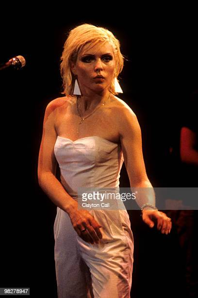 Debbie Harry performing with Blondie at the Oakland Auditorium on August 12 1979