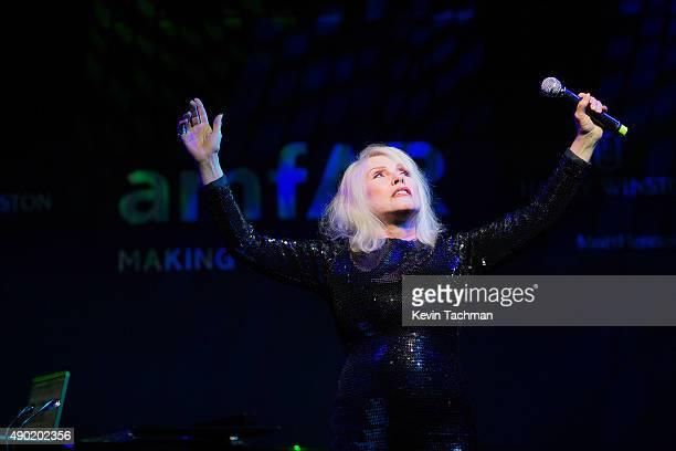 Debbie Harry performs at amfAR Milano 2015 at La Permanente on September 26 2015 in Milan Italy